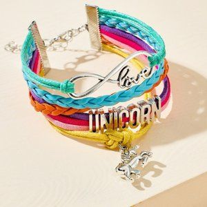 Unicorn Charm Rainbow Love Pride Wrap Bracelet